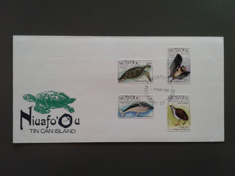 Niuafo'ou 42-45 VF Used on unaddressed first day cover. Scott $ 11.85
