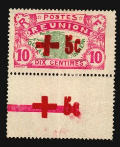 France Colonies Reunion Error Variety Border sheet overprint Map Red Cross topic