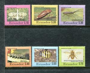 Ecuador 1309-1314, MNH, Insects Beetles 1993. x24096