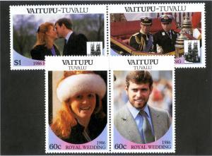 TUVALU VAITUPU 65-6 PAIRS SCV $2.85 BIN $1.75 ROYALTY