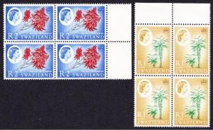 Swaziland Definitives 2v The Highest Values Blocks of Four SG#104-105 SC#106-107