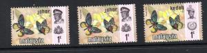 Butterflies of Malaysia  3 var..mnh