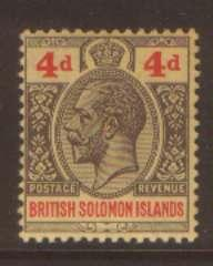 British Solonmon Is 4d SG29 hinged mint