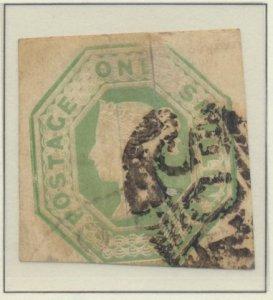 Great Britain Stamp Scott #5, Used, Three Large Margins, Faults - Free U.S. S...