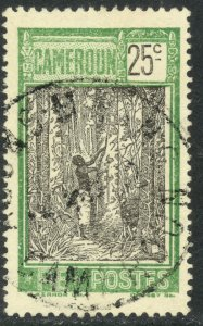 CAMEROUN 1925-38 25c TAPPING RUBBER TREE Pictorial Sc 180 VFU