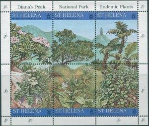 St Helena 1997 SG734-739 Endemic Plants sheet set MNH