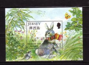Jersey Sc 883 1999  Year of the Rabbit stamp sheet mint NH