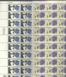US SCOTT 1556-57 SPACE PIONEER,JUPITER,MARINER 2 Mint NH Sheets of 50