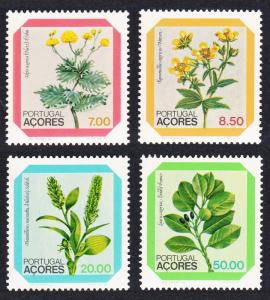 Azores Regional Flowers First issue 4v SG#430=439 SC#325-328
