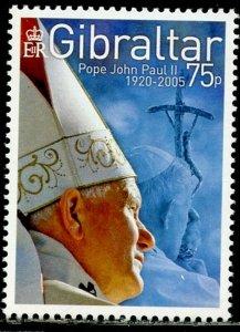GIBRALTAR Sc#1025 2005 Pope John Paul II Complete Set OG Mint NH