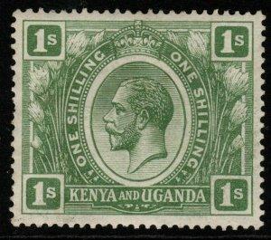 KENYA, UGANDA & TANGANYIKA SG87 1922 1s GREEN MTD MINT