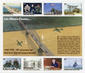 Nicaragua 1995 MNH WWII WW2 VE Day World War II 8v M/S Churchill Stalin Stamps