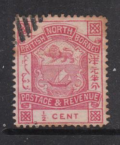 North Borneo 1887 Sc 35 Arms 0.5c CTO