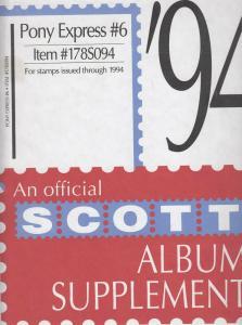 Scott Pony Express Supplement # 6 IssuesThrough 1994