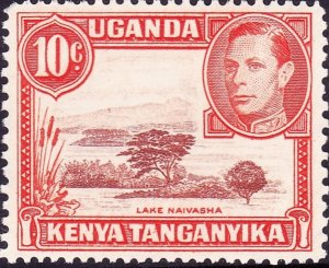 KENYA UGANDA TANGANYIKA 1938 KGVI 10c Reddish-Brown & Orange SG134 MH