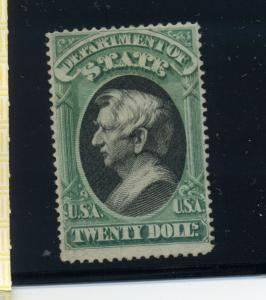 Scott O71 $20 State Dept. Official Mint Stamp with PF Cert (Stock O71-1)