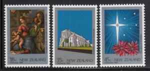 New Zealand 1983 MNH Scott #788-#790 Christmas