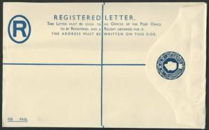ADEN QE30c registered envelope fine unused.................................56588