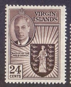 Birtish Virgin Islands 1952 MNH  24 ct   #