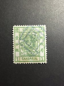 China stamps imperial large Dragon 1878 1ca sg#1 cat:£825, ref. United Europe
