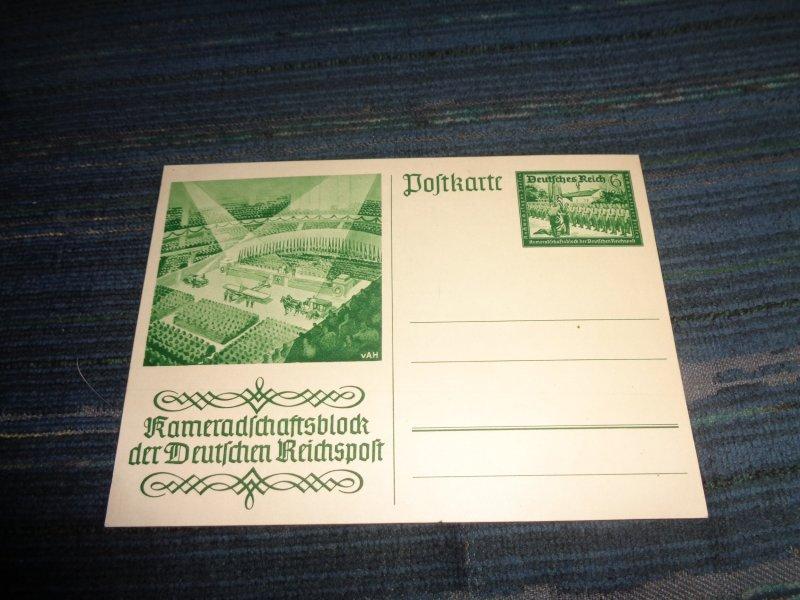 GERMANY WWII PROPAGANDA POSTAL CARD:  REICHSPOFT
