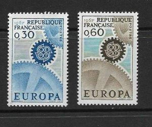 FRANCE - EUROPA 1967 - SCOTT 1178 TO 1179 - MNH