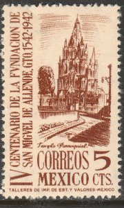 MEXICO 782, 5¢ San Miguel de Allende 400th Anniv UNUSED, H. OG. VF.
