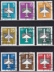 Germany DDR C8-C16 Luftpost 1982