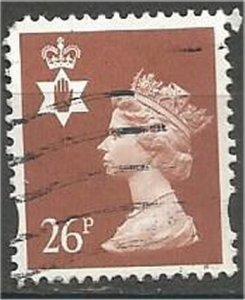 GREAT BRITAIN, NORTHERN IRELAND, 1997, used 26p, MACHINS  Scott NIMH73