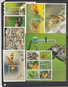 Malawi 2018 insects bees klb+6s/s MNH