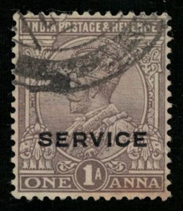 India, 1Anna, SERVICE, 1931, King George V, Watermark Star (T-6060)