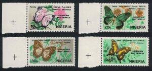 Nigeria Nigerian Butterflies 4v Left Margins SG#438-441