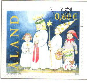 Aland Finland Sc 217 2003 St Lucia's Day stamp used