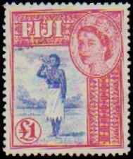 Fiji #162 1954-1956 Never Hinged Single High Value Incomplete Set, 1954, Neve...