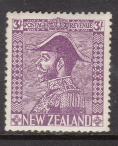 New Zealand #183 Very Fine + Never Hinged With Some Toning On Reverse