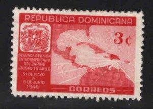 Dominican Republic Scott 362 MH* map stamp