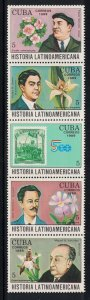 CUBA Scott # 3155a-3170a   1989 Latin America History  mnh SCV $7.00