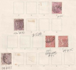GREAT BRITAIN COLLECTION LOT 1856+ $520 SCV MOUNTED SG #'S + SCOTT #'S