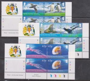 British Antarctic Territory -2009 Treaty Set in Cylinder Blocks VF-NH