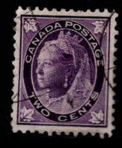 Canada Scott 68 Used 1897 Queen Victoria Two cent stamp