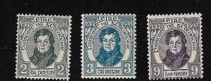 Ireland - 1929 O'Connell Set mint #80-82