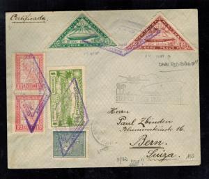 1932 Paraguay Graf Zeppelin Cover to Bern Switzerland  LZ 127