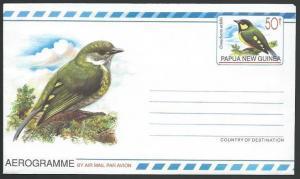 PAPUA NEW GUINEA 50t Bird aerogramme fine unused...........................10898