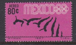 Mexico #C328 single F-VF Mint NH ** Mexico City Summer Olympics
