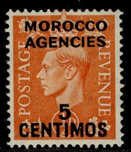MOROCCO AGENCIES GVI SG182, 5c on ½d pale orange, M MINT.