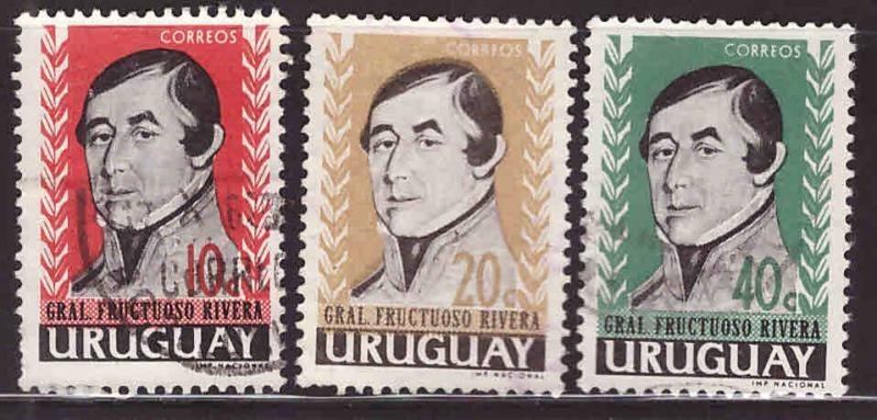 Uruguay Scott 686-688 Used stamp set