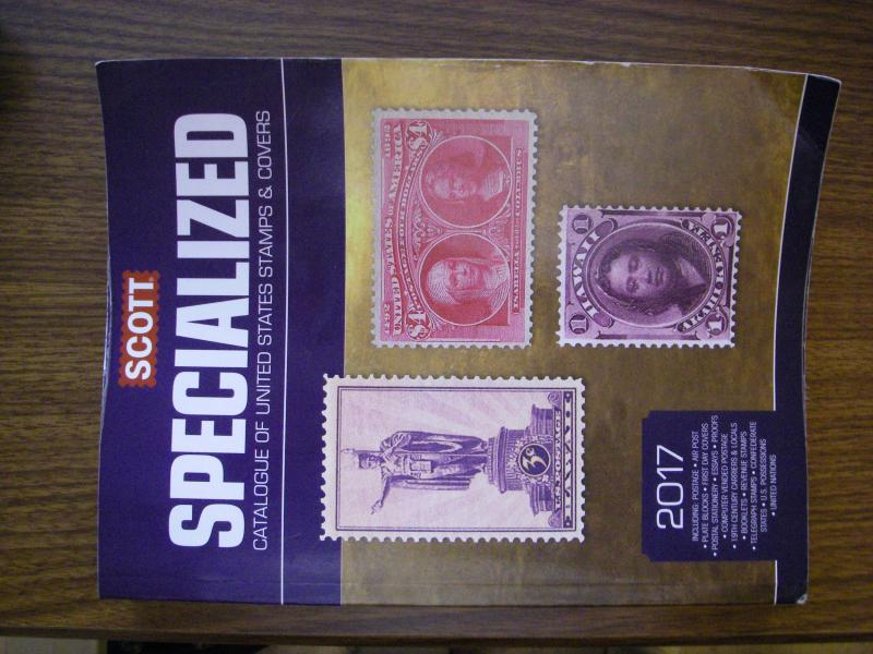 2017 SCOTT UNITED STATES SPECIALIZED STAMP CATALOGUE OF STAMPS & COVERS