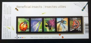 Canada MNH S/S 2238a Beneficial Insects 2007
