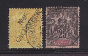 New Caledonia Sc 27, 50 used 1892 issues, 2 different, F-VF