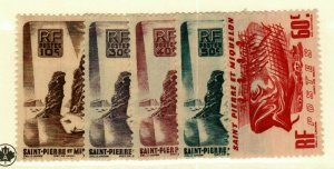 St Pierre & Miquelon #324-8 MH CV$3.45
